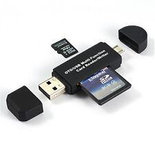 Micro USB OTG USB 2.0 Adapter Micro SD Cardreader Kartenleser für Handy Tablette