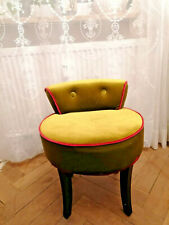 Kare Design, Samt Hocker, grün & Magenta, auch perfekt für Kinderzimmer