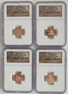 2009 S Bronze 1C Lincoln Proof Bicentennial Coin Set (NGC PF 70 RD Ultra Cameo)