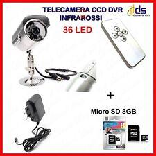 telecamera videosorveglianza da esterno interno sd per 36 led infrarossi dvr