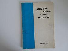 Yaesu FT-227R (Original Manual De Instrucciones Solamente)... radio _ trader _ Irlanda.