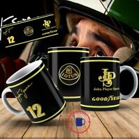 Ayrton Senna  F1 Lotus JOHN PLAYER  Mug / Prefect Gift 110z , Mechanic,