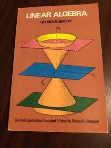 Linear Algebra (Dover Books on Mathematics) by Shilov, Georgi E. Paperback Book