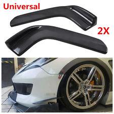 2x Winglet Type Car Front Bumper Lip Diffuser Splitter Canard Carbon Fiber Style