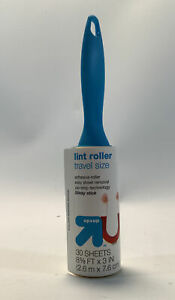"""Travel Mini Size Lint Roller Up&Up 30 Sheets 8 5/8""""x3"""" NEW"""