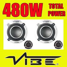 VIBE 480W TOTAL 2WAY 5.25 INCH 13cm CAR DOOR 2WAY COMPONENT SPEAKERS TWEETERS v2