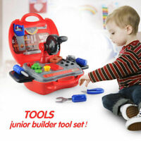 19PC KIDS TOOL DIY SET CONSTRUCTION PRETEND PLAY CREATIVE TOYS WITH HARD CASE