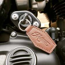 Motone Classic Leather Key Fob/Ring Triumph Bonneville Cafe Racer Chopper Bobber