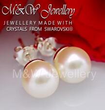 Pair of 1cm Cream pearl bead stud earrings JTY271