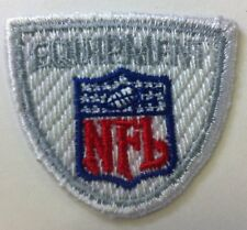 """NFL Equipment Shield /crest 1.25""""x 1.5"""" Inch Sew On / Iron On Patch"""