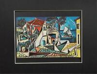 "Pablo Picasso ""Mediterranean Landscape ""  Matted Offset Color Lithograph 1972"