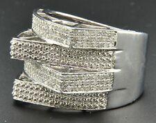 Diamond Pinky Ring Fashion Statement .925 Sterling Silver 0.90 Ct.
