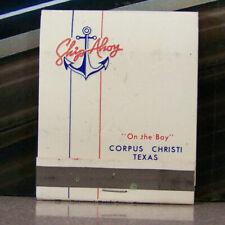 Vintage Matchbook A9 Texas Corpus Christi Ship Ahoy Anchor Nautical Ocean Bay