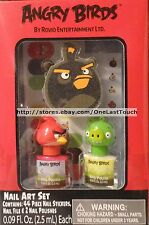 Rovio ANGRY BIRDS* 47pc Nail Art Gift Set/Lot 44 STICKERS+1 FILE+ 2 POLISH Sale*