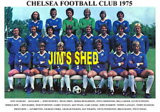 CHELSEA  F.C. TEAM PRINT 1975 (WILKINS/MAYBANK/WICKS/FINNIESTON)