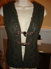 STYLISH NEW FREE PEOPLE VEST IN FOREST GREEN