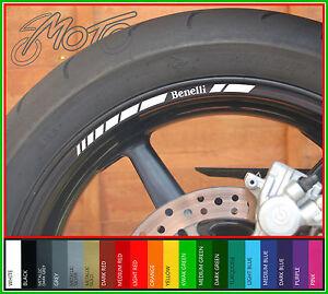 8 x Benelli Wheel Rim Decals Stickers Stripes - TnT tornado tre k 491 st 750