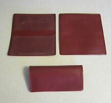 1 NEW BURGUNDY VINYL CHECKBOOK COVER WITH DUPLICATE FLAP CHECK BOOK COVERS
