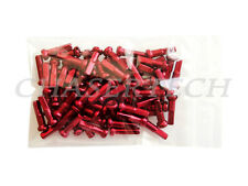 "New MTB Road BMX Bike 7075 Alloy Spoke Nipples 2.0mm 14G 5/8"" 72 Pcs Red"