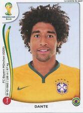 N°039 DANTE # BRASIL STICKER PANINI WORLD CUP BRAZIL 2014