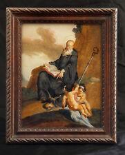 dipinto su vetro 1700 S.BENEDETTO AB. DI NORCIA