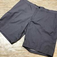 N-68 Hawke & Co. Mens Lightweight flat front Shorts Zip GREY 38w nwot