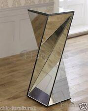 NUOVA grande CHIC ARREDO utilizzare vetri specchiati Twisted PHOENIX PIEDISTALLO tabella
