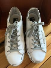 GOLDEN GOOSE Superstar Sneakers (White/Silver) Sz 40 (9.5)