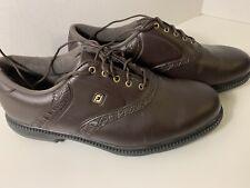 Footjoy Golf Shoes Mens 10.5 Brown