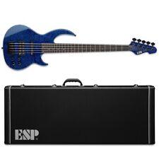 ESP LTD BB-1005 QM Bunny Brunel Black Aqua BLKAQ 5-String Bass + Hard Case