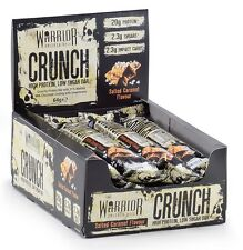 Warrior CRUNCH Low Carb Protein Bar; Box of 12; 20g Protein (Salted Caramel)