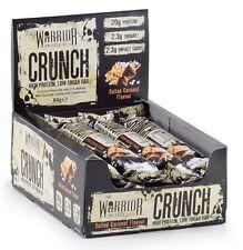Warrior Crunch Bar a basso contenuto di Carboidrati proteine; Confezione da 12; 20g di proteine (CARAMELLO SALATO)