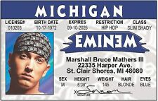 Eminem Marshall Mathers RAPPER of 8 Mile Identification ID card Drivers License