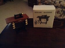 Dollhouse Furniture Treadle Sewing Machine 1:12 Metal & Wood New
