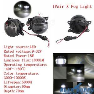 Black LED Fog Light Fits Peugeot 208 2012 - teraz Peugeot 3008 po FL 2013-teraz