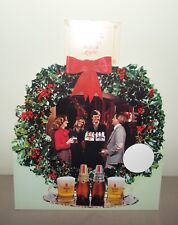 MICHELOB LIGHT CHRISTMAS BAR DISPLAY SIGN 1980's