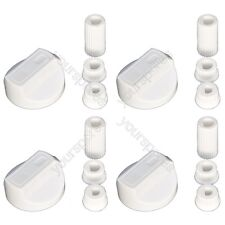 4 X Beko Universal Cooker/Oven/Grill Control Knob And Adaptors White