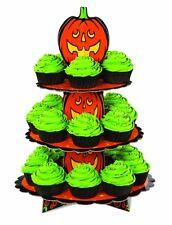 """Halloween: Wilton Petit plat à gâteau sur pied en carton 3 étages """"Citrouille"""