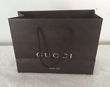 GUCCI BROWN GUCCISSIMA PAPER GIFT SHOPPING BAGS WITH GOLD ACCENTS LOT OF 5