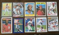 Ozzie Smith St. Louis Cardinals Lot of 43 Cards. 1994-2020 Inserts HOF!!