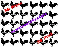 "30 Piece 1.5"" Black Rooster CUCKOLD Temporary Tattoo BBC Queen of Spades Tattoo"