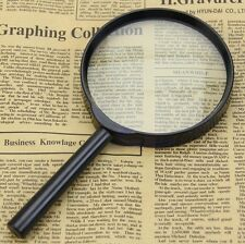 5X 100mm Hand Held Reading Magnifier Magnifying Glass Lens Zoomer Loupe Jewelry