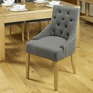 Mobel solid oak furniture set of eight flare back luxury dining room chairs