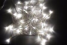 Lichterkette 50 LED Warmweiß Strom Kabel 230V CE Tüv GS für Innenräume KV