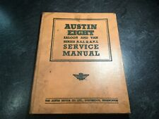 1939-1948 Austin Eight Saloon & Van Series Asi & Avl Service Repair Shop Manual