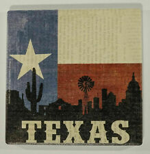 """New listing New """"Texas Silhouette"""" 6 Piece Drink Coaster Set by Thirsty Stone"""
