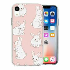 For Apple iPhone XR Silicone Case Bunny Rabbit Pattern - S68