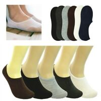3-12Pairs Women Invisible No Show Nonslip Boat Low Cut Solid Cotton Socks loafer