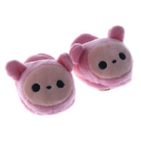 Trendy Cartoon Plush Slipper Shoes for 1/3 BJD Dollfie SD Doll Dress Up Pink