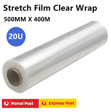 500mmx400m Handy Stretch Film Wrap Pallet Carton Shrink Wrapping 20UM CLEAR